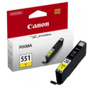 Canon Pixma CLI-551Y Inkjet Cartridge Yellow 6511B001
