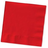 Maxima Napkin 400mm 2-Ply Red Pack of 100 VSMAX33/2R