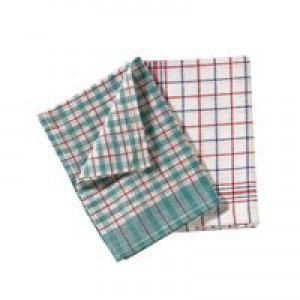Tea Towel Check Design Pack of 10