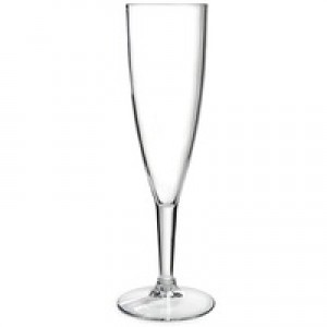 Plastic Champagne Glass Clear Pack of 10 CPDC7025A