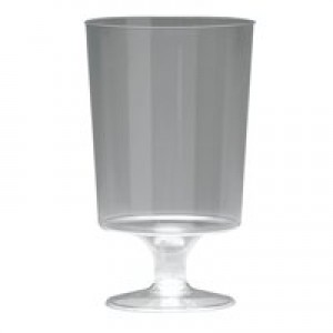 Plastic Stem Wine Glass Pk 25