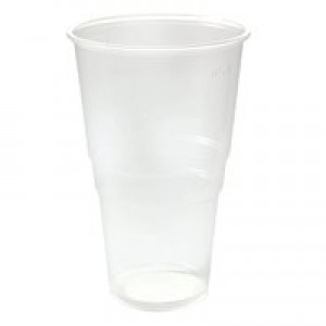 Plastic Pint Glass Clear Pk 50 VPLFG617
