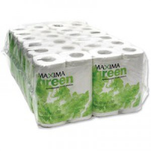 Maxima Green Toilet Roll White 200 Sheet Pk 48 KMAX200