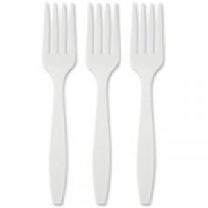 Plastic Fork White Pk 100 KRQRY0243