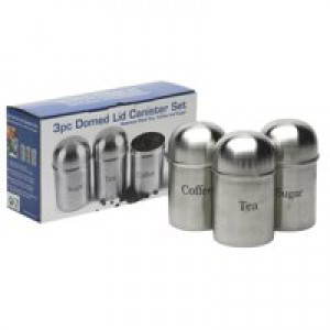 CPD Kitchen Canister Set of 3 Stainless Steel