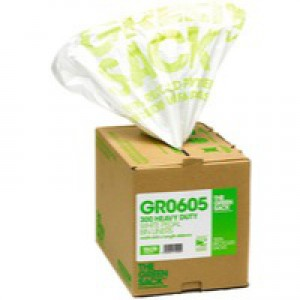 The Green Sack Pedal/Office Bin Liner White in Dispenser Pack of 300 VHPGR0605