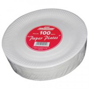 Paper Plate 7 inch White Pack of 100