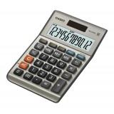 Casio Calculator Euro Desktop Battery/Solar-power 12 Digit 3 Key Memory 103x137x31mm Ref MS120ER