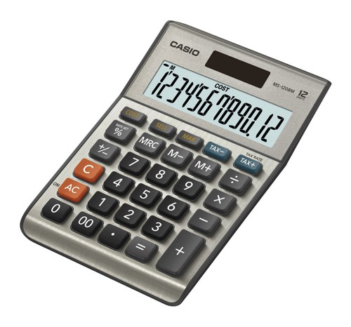 Casio Desktop Calculator 12-digit MS-120TE-S-UH