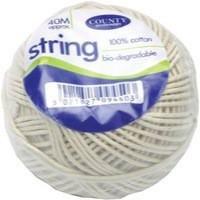 County Cotton String Ball Medium 40 Metres Code C172