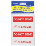 County Mailing Label 1st Class Pack of 12 C163
