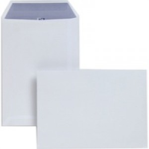 Plus Fabric Envelopes Pocket Press Seal 110gsm C5 White [Pack 250]