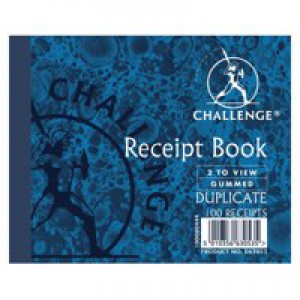 Challenge Duplicate Book Gummed Sheets with Carbon Receipt 2-to-View 105x130mm Code D63053