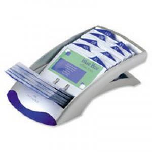 Durable Visifix Desk Business Card Index Silver 2413/23