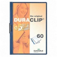 Durable Duraclip File A4 6mm Blue Pack of 25 2209/06