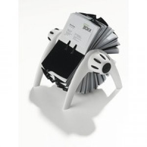 Durable Visifix Flip Rotary File with 200 Pockets for 400 Business Cards Silver Ref 2417/23