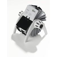 Durable Visifix Flip Business Card Index Silver 2417/23