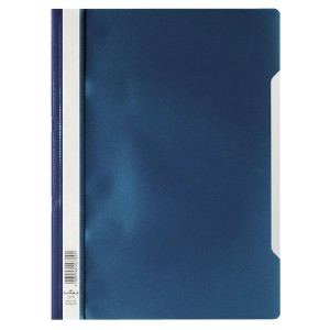Elba Dark Blue Clearview A4 Folder Pack of 50 2573/07