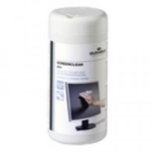 Durable Screenclean Moist Low Lint Cleaning Wipes Pre-saturated Ref 5736 [Tub 100]