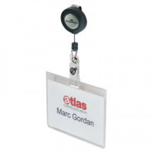 Durable Name Badge with Badge Reel Pack of 10 8138/19