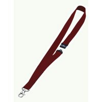 Durable Necklace Textile with Safety Closure for Name Badge 20x440mm Red Ref 8137-03 [Pack 10]