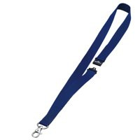 Durable Textile Badge Necklace 20mm Blue Pack of 10 8137/07