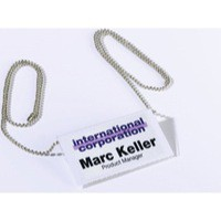 Durable Badge Chain Silver Pack of 10 8104