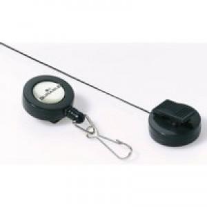 Durable Badge Reel Hook Fastener Charcoal Pack of 10 8221/58
