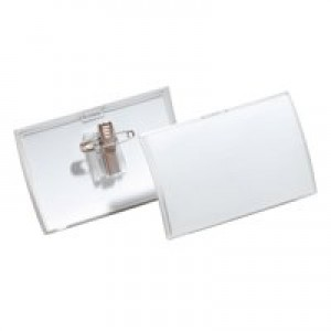 Durable Combi Clip Name Badge 40x75mm Pack of 25 8211/19