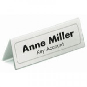 Durable Table Place Name Holder 52x100mm Ref 8051 [Pack 25]