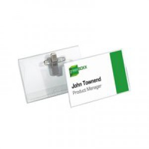 Durable Name Badges Combi Clip for Pin or Clip to Clothing 54x90mm Ref 8101-19 [Pack 50]