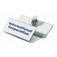 Durable Name Badge 40x75mm Crocodile Clip Fastener Pack of 25 8110