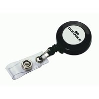 Durable Badge Reel for Punched Clip Holes Charcoal Ref 8152 [Pack 10]