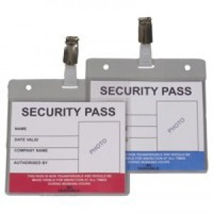 Durable Security Pass Holder Colour-Coded Pack of 25 999108004