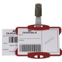 Durable Security/Visitor Badge without Clip Pack of 50 Red 999108005
