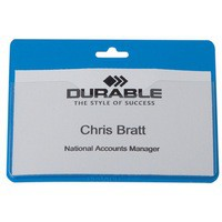 Durable Security/Visitor Badge without Clip 60x90mm Pack of 50 Blue 999108003