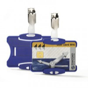 Durable Security Pass Holder Pack 25 Blue Code 8118/06