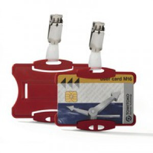 Durable Security Pass Holder Pack 25 Red Code 8118/03