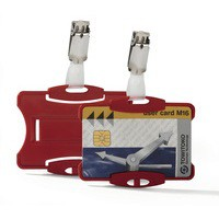 Durable Security Pass Holder Pack of 25 Red 8118/03