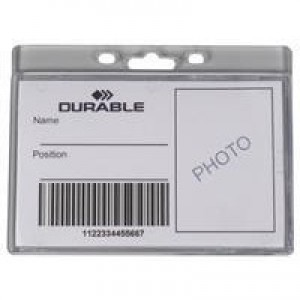 Durable Enclosed Proximity Card Holder Pk 50 999108012