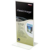 Deflecto Stand Up Sign Holder 1/3xA4/DL Clear