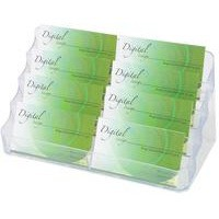 Image for Deflecto 4-Tier 8-Pocket Business Card Holder Crystal DE70801