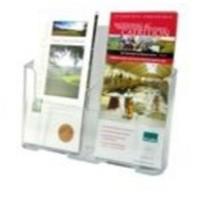 Deflecto Literature Holder 2x1/3xA4/DL Clear 74501