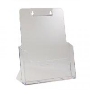 Deflecto Literature Holder A4 Clear 77001