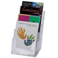Deflecto Literature Holder A5 4-Tier Clear 77901