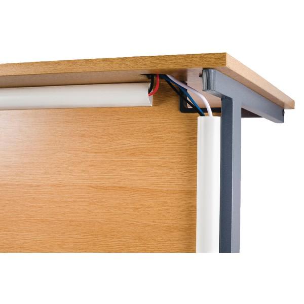 D-Line Desk Trunking Cable Management 50x25mm 1.5m White 2D155025W