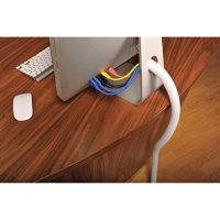 Image for D-Line White 32mm Flexi Tube Cable Tidy