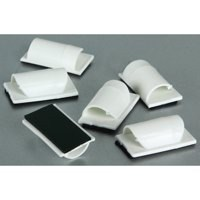 D-Line Cable Tidy Clips Self Adhesive White Pack 6