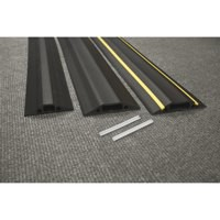 D-Line Floor Cable Cover 80mm Wide 1.8m With Connectors Black