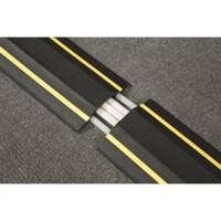 Lrb Floor Cable Cover Hazard 80Mm 1.8M C/W Connectors Ylw/Black Fc83H
